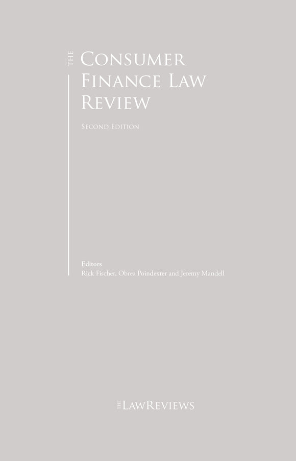 The Consumer Finance Law Review - 2nd Edition