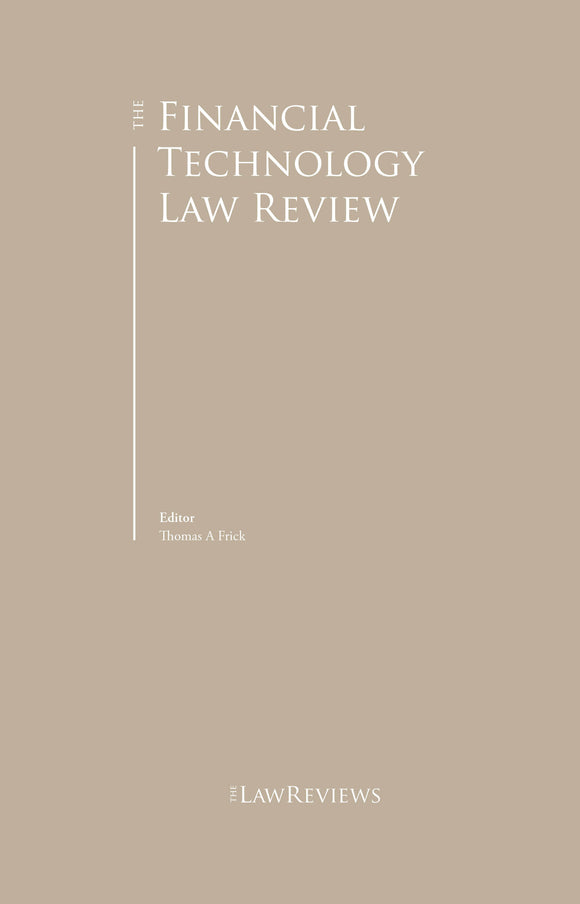 The Financial Technology Law Review - 1st edition