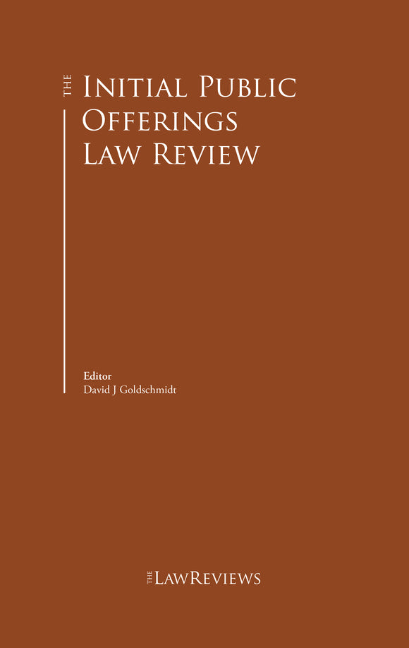 The Initial Public Offerings Law Review - 4th Edition