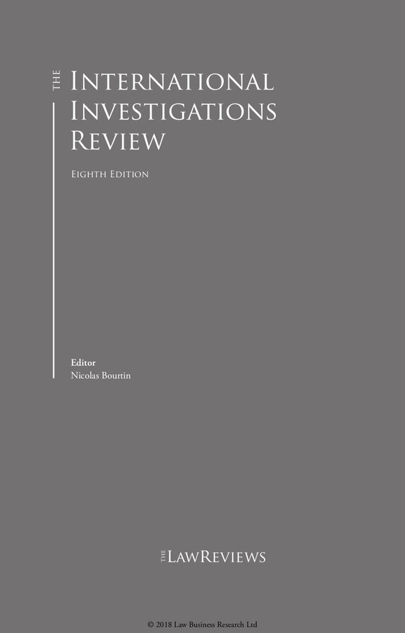 The International Investigations Review - 8th Edition