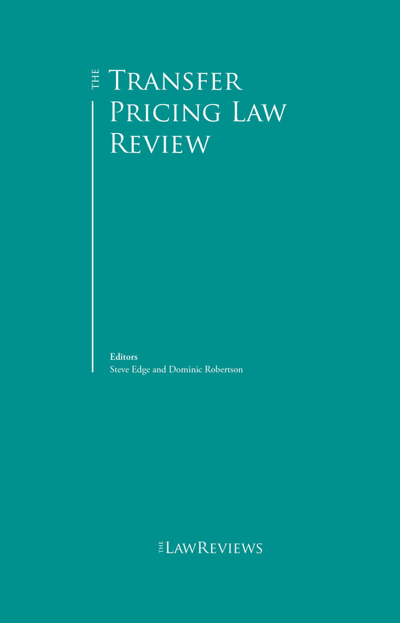 The Transfer Pricing Law Review - 4th Edition