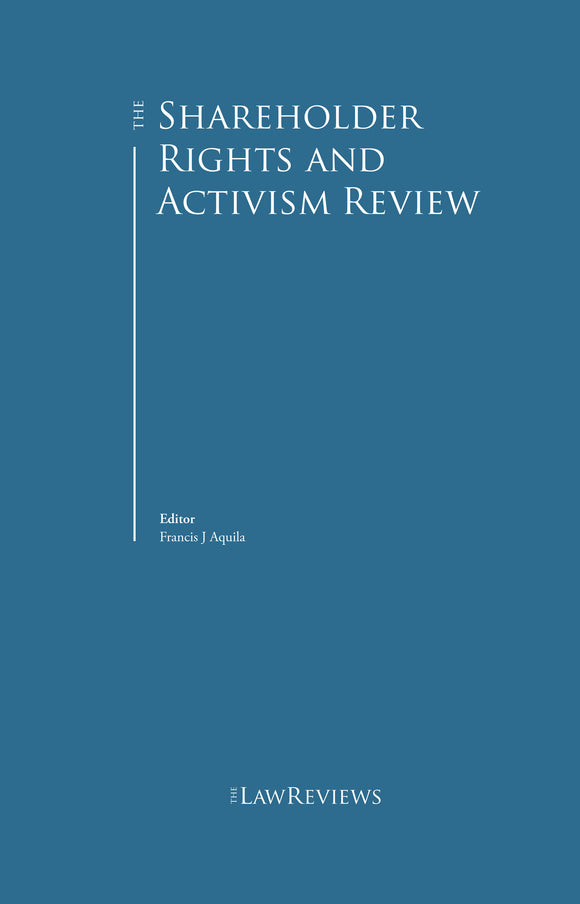 The Shareholder Rights and Activism Review - Edition 4