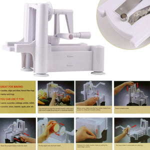 3 IN 1 VEGETABLE SLICER SPIRALIZER