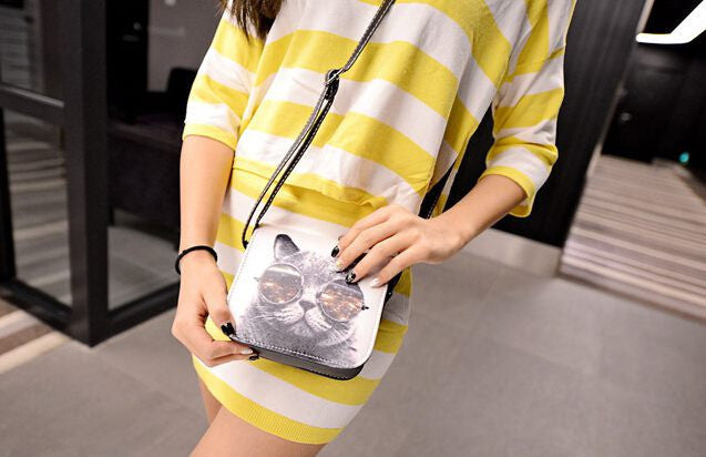 BIG GLASSES CAT HANDBAG