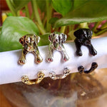 Vintage Labrador Retriever Adjustable Rings