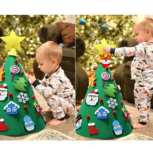 Kidsmas™️ DIY Christmas Tree Set with Detachable Ornaments