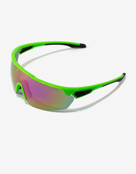 Gafas de sol Green Fluor Cycling vista lateral
