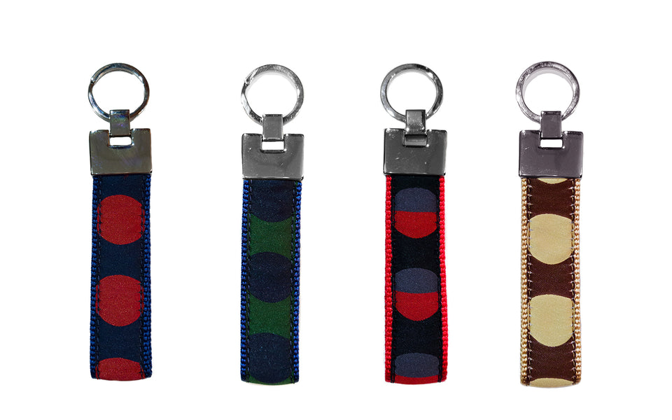 Polka Dot Keyrings