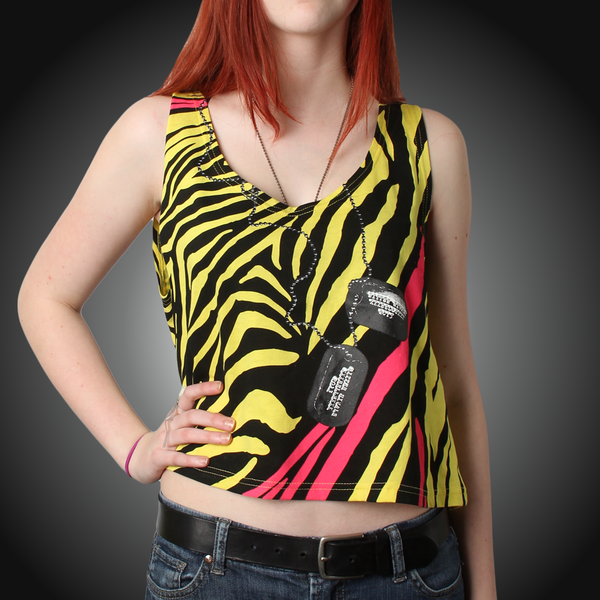 Tiger Ladies Crop Top