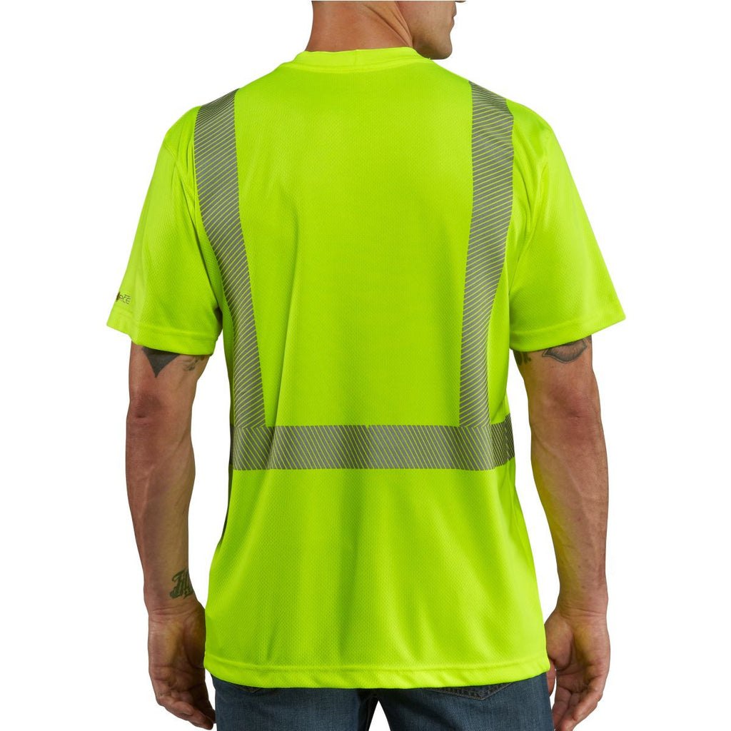 Carhartt Men's Brite Lime High Visibility Force Short Sleeve Class 2 Tee