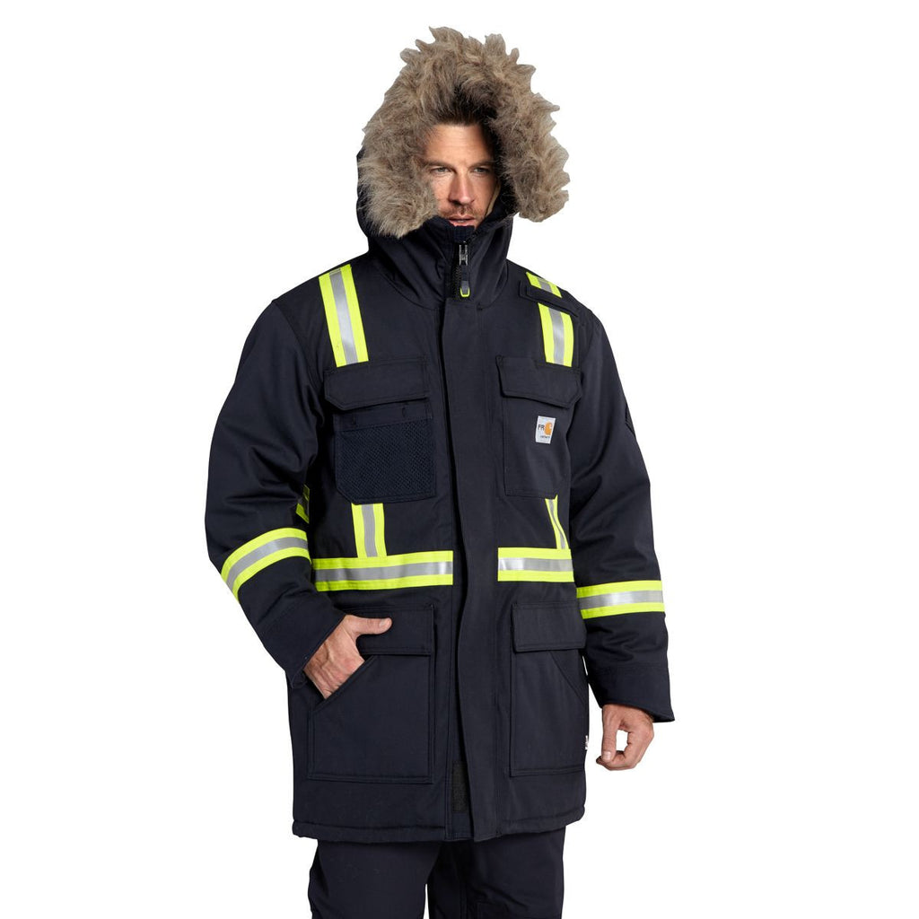 Carhartt Men's Dark Navy Flame-Resistant Extremes Arctic Parka