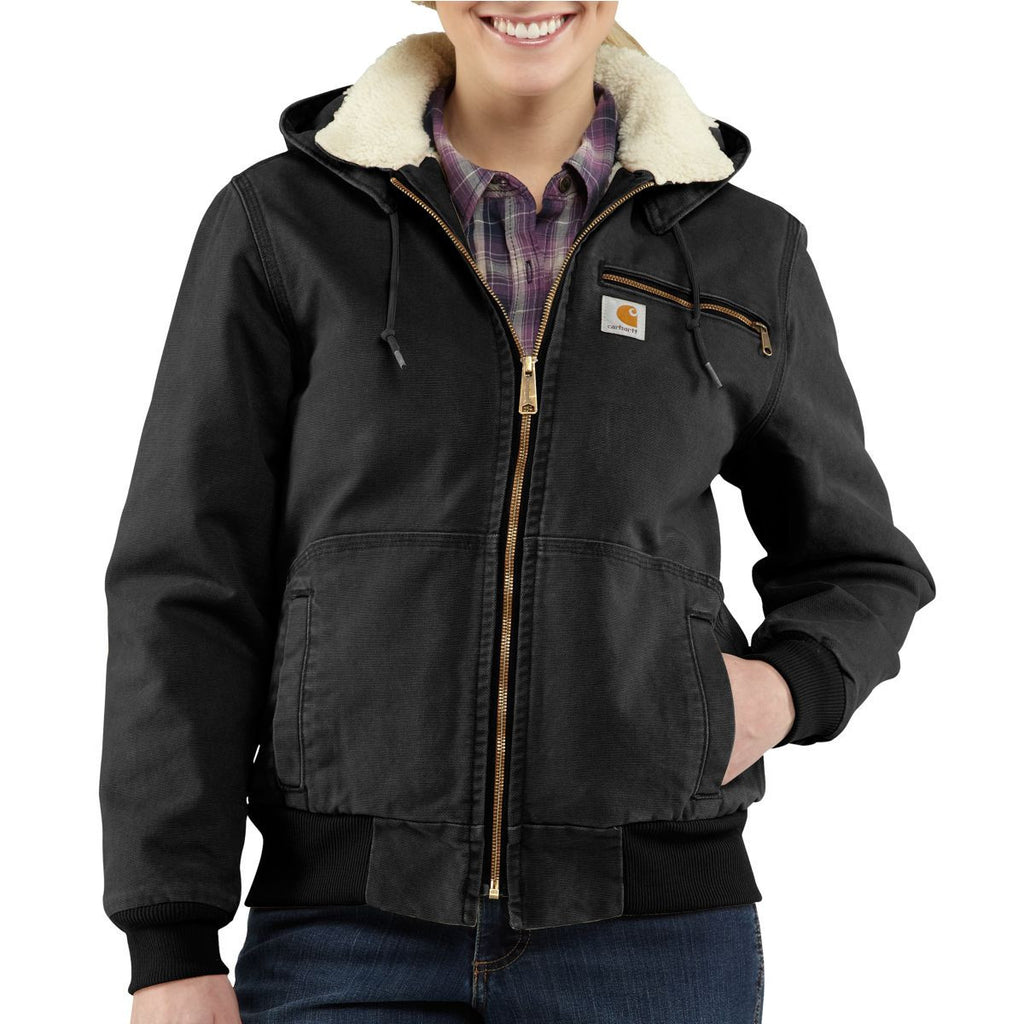 Carhartt Women's Black Weathered Duck Wildwood Jacket