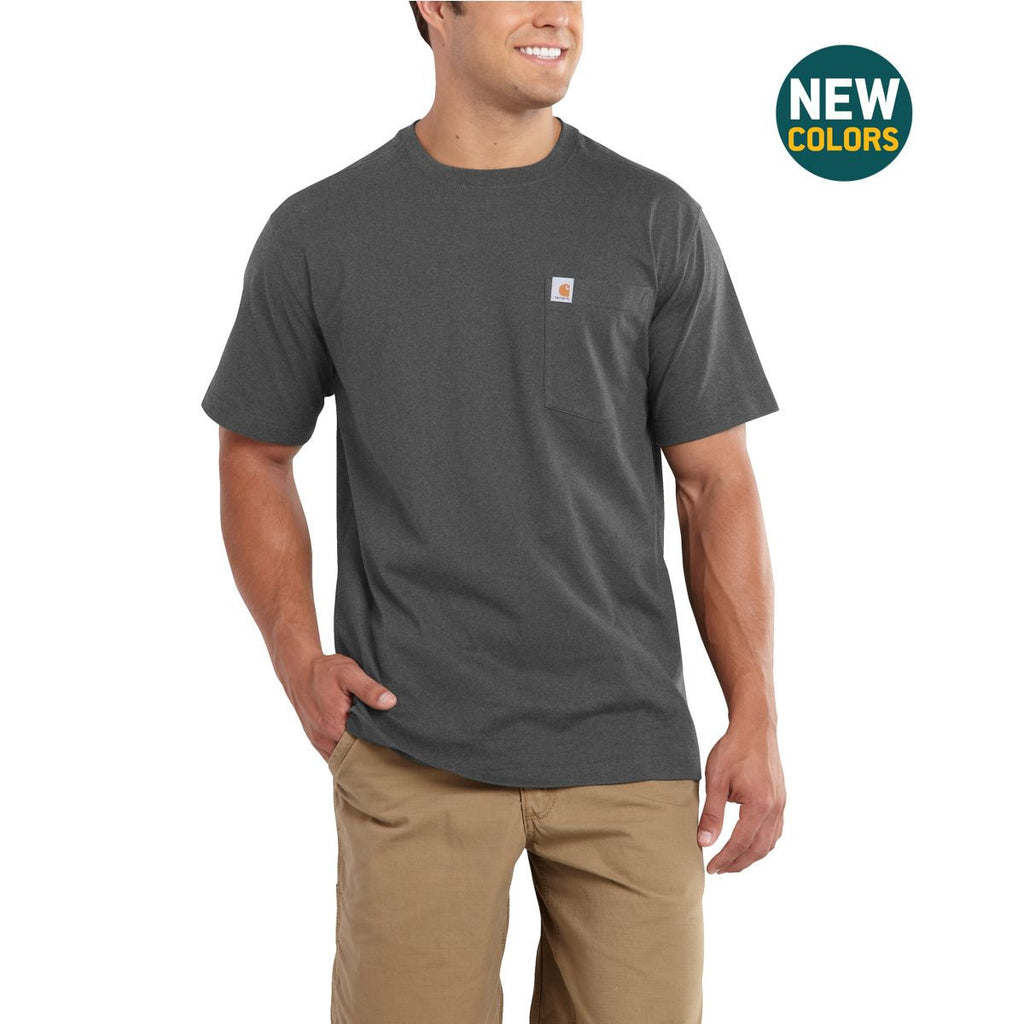 Carhartt Men's Carbon Heather Maddock Pocket Short Sleeve T-Shirt