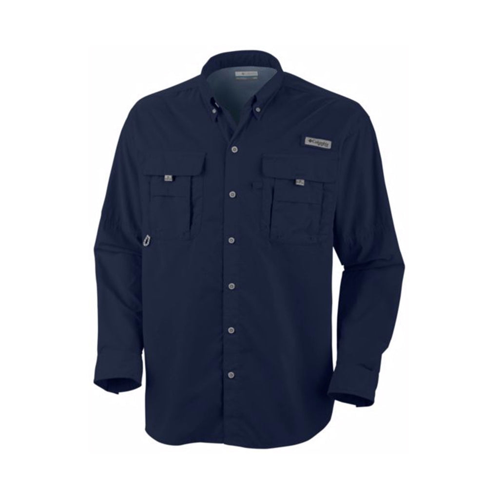 ef775d084e2 Columbia Men's Collegiate Navy Bahama II Long Sleeve Shirt