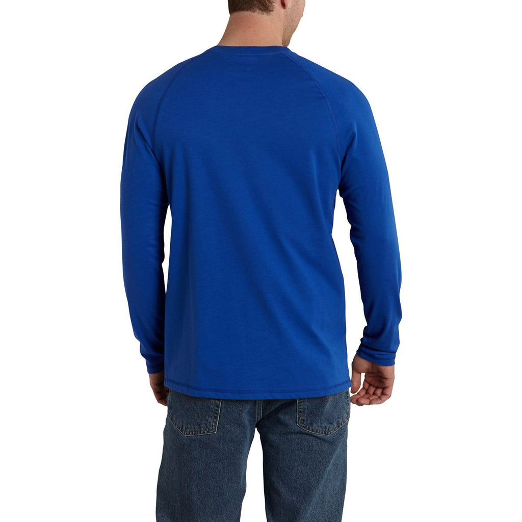Carhartt Men's Nautical Blue Force Cotton Delmont Sleeve Graphic T-Shirt