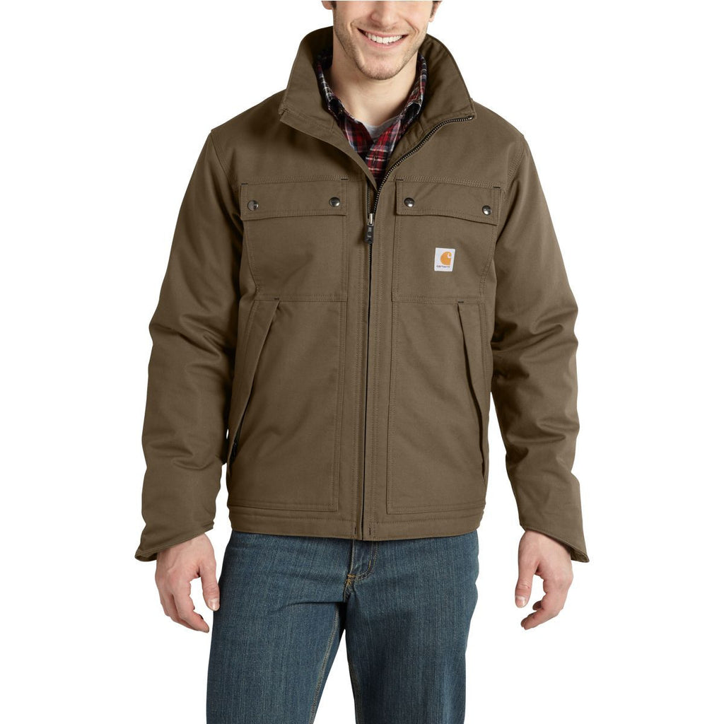 Carhartt Men's Canyon Brown Quick Duck Jefferson Traditional Jacket