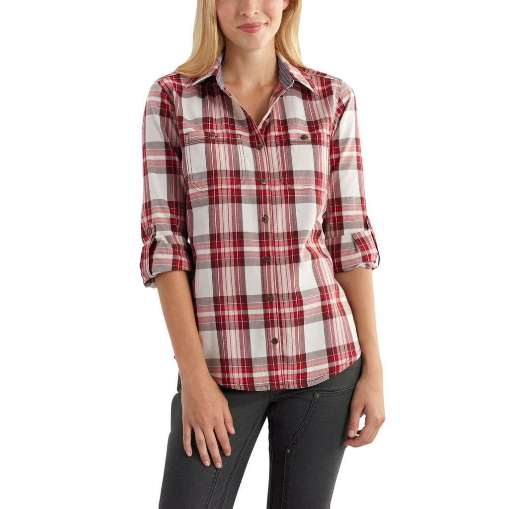 Carhartt Women's Dark Red Dodson Shirt