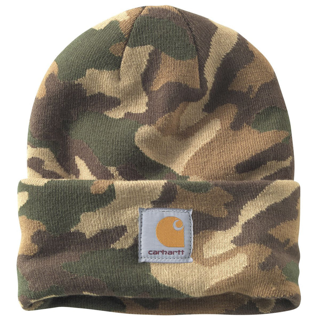 Carhartt Men s Rugged Khaki Camo Watch Hat 56d73b32d322
