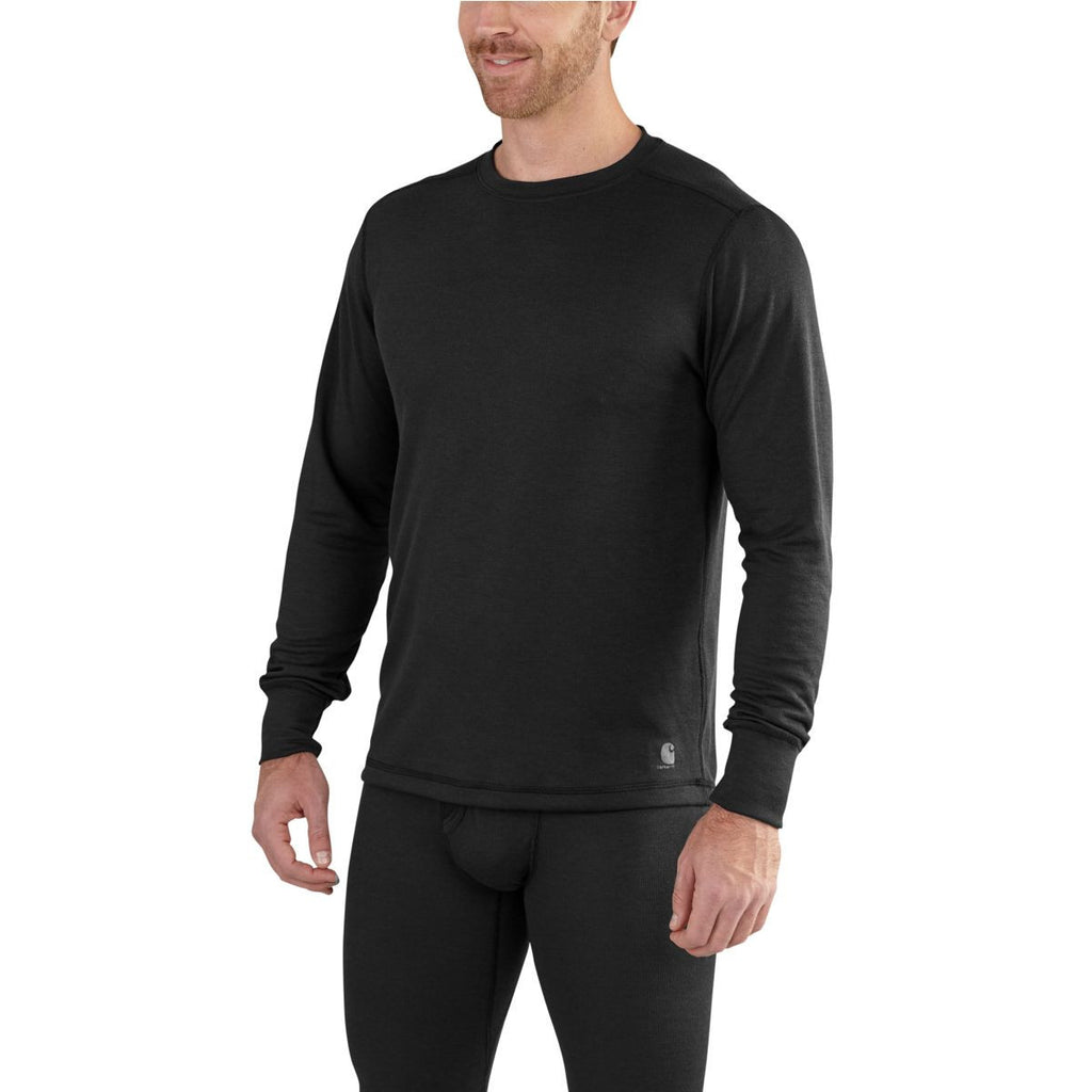 Carhartt Men's Black Base Force Extremes Cold Whether Crewneck