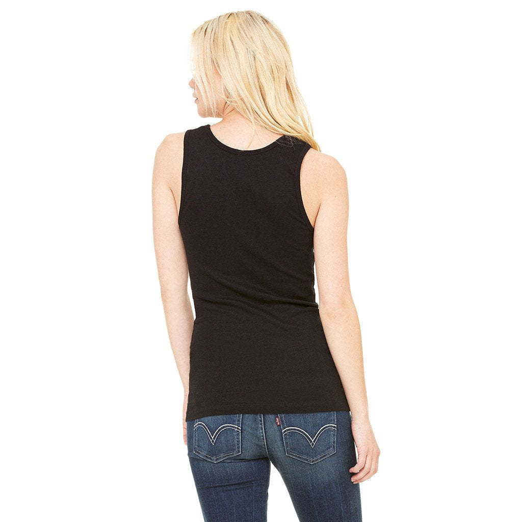 Bella + Canvas Women's Black Stretch Rib Tank