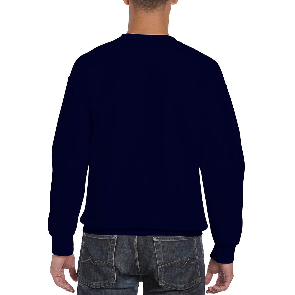Gildan Men's Navy Crew Neck Sweatshirt