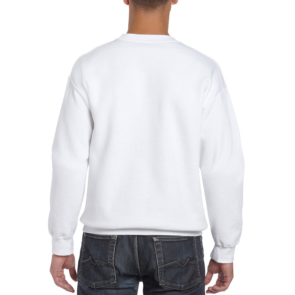 Gildan Men's White Crew Neck Sweatshirt