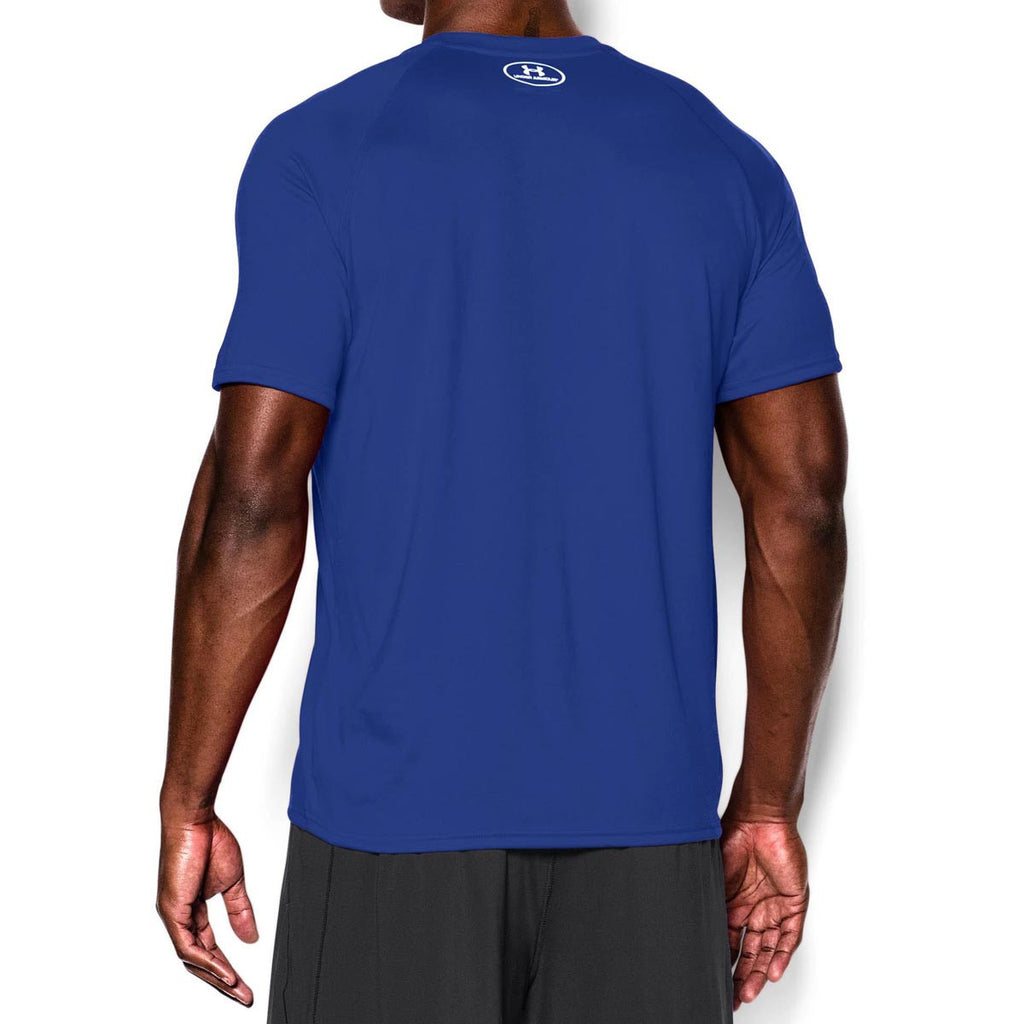 Under Armour Men's Royal/White Tech Short Sleeve T-Shirt