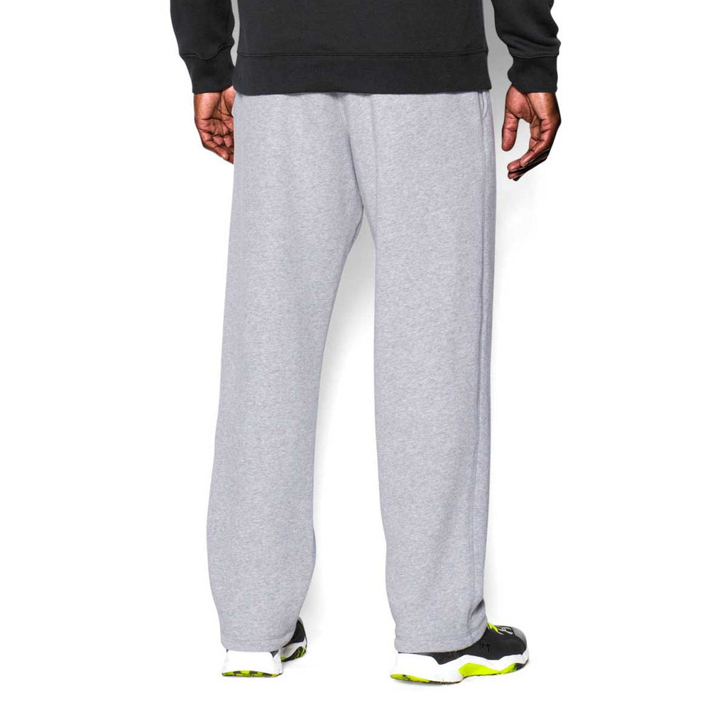 Under Armour Men's True Grey Heather/Black Rival Fleece Pants