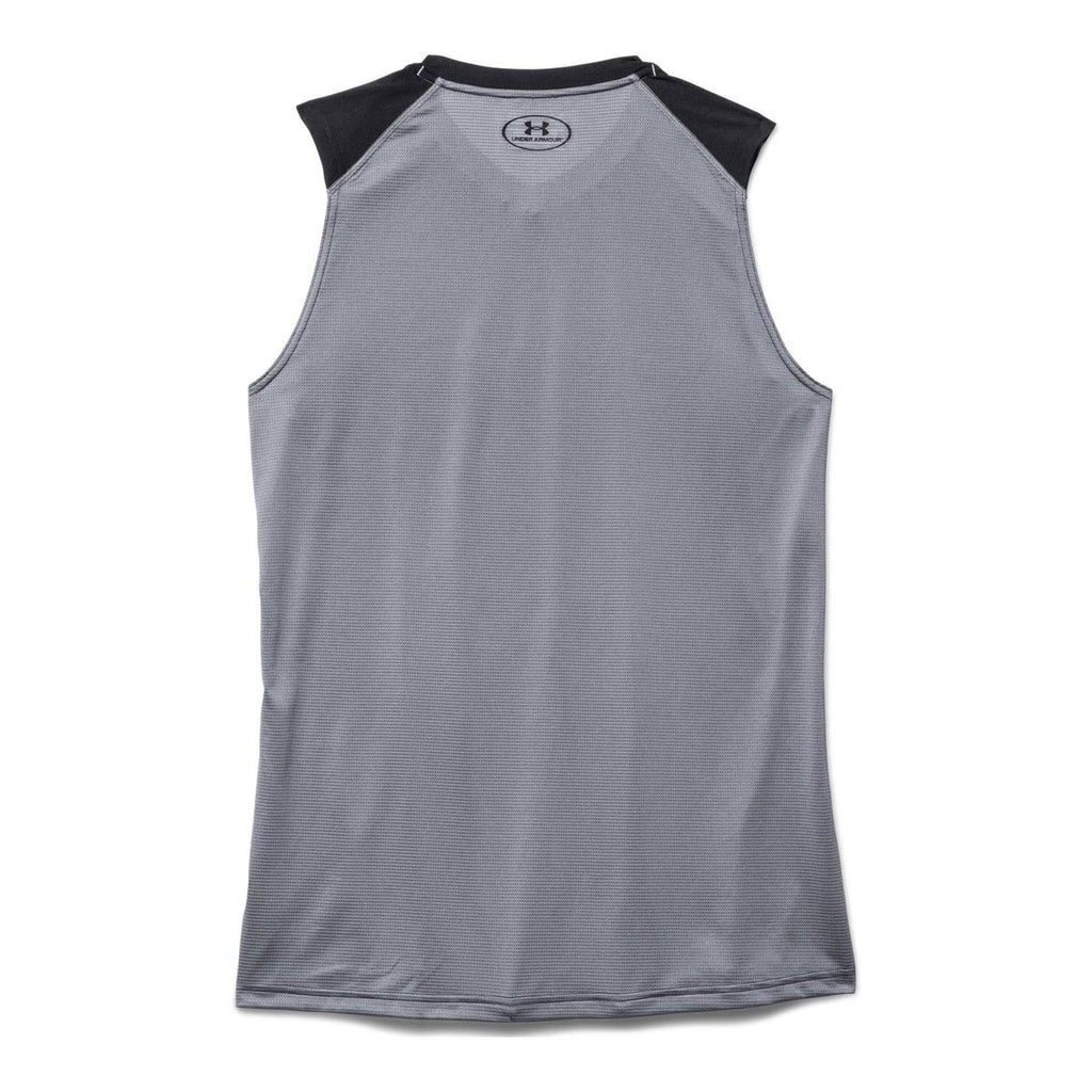 Under Armour Men's Black UA Raid Sleeveless T-Shirt