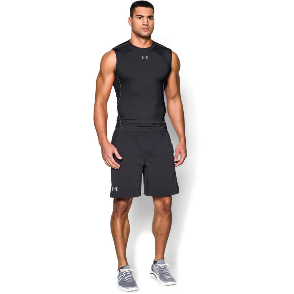 Under Armour Men's Black HeatGear Armour Sleeveless Compression Shirt