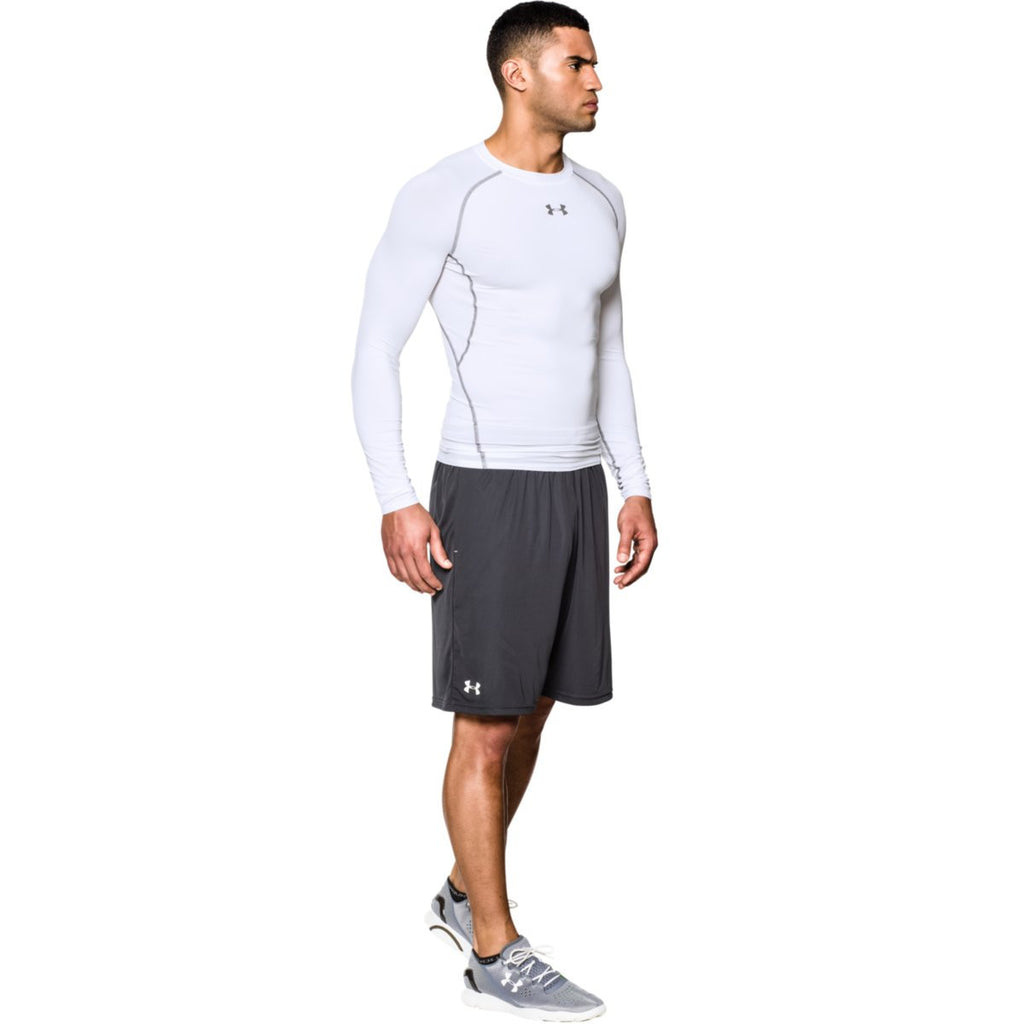 Under Armour Men's White HeatGear Armour L/S Compression Shirt