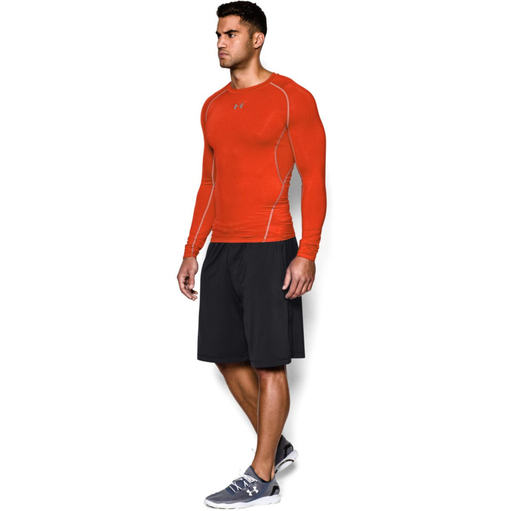 Under Armour Men's Orange HeatGear Armour L/S Compression Shirt