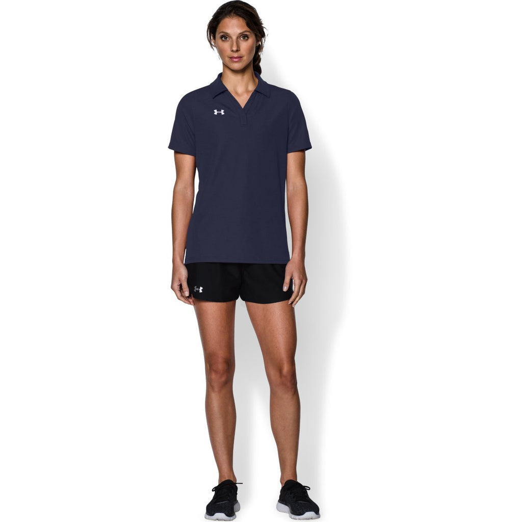 Under Armour Women's Midnight Navy Performance Team Polo