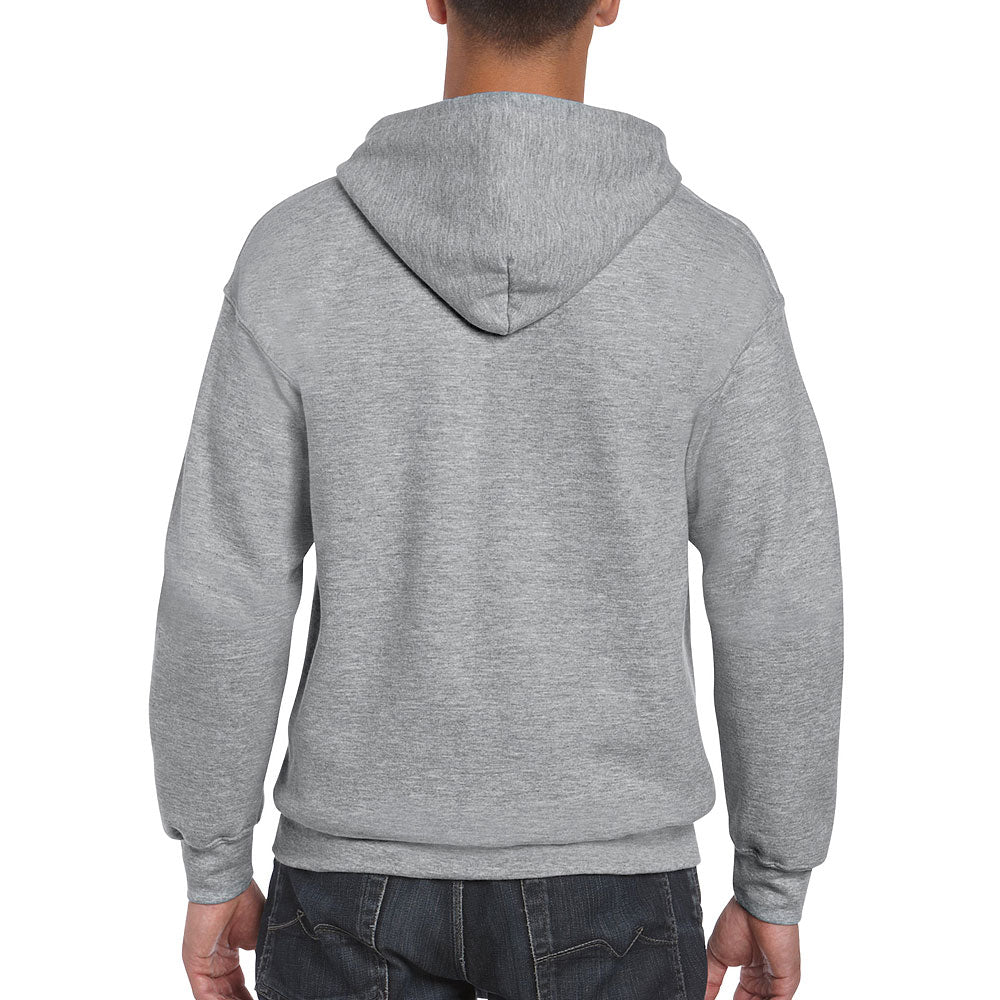 Gildan Men's Sport Grey Full Zip Hooded Sweat