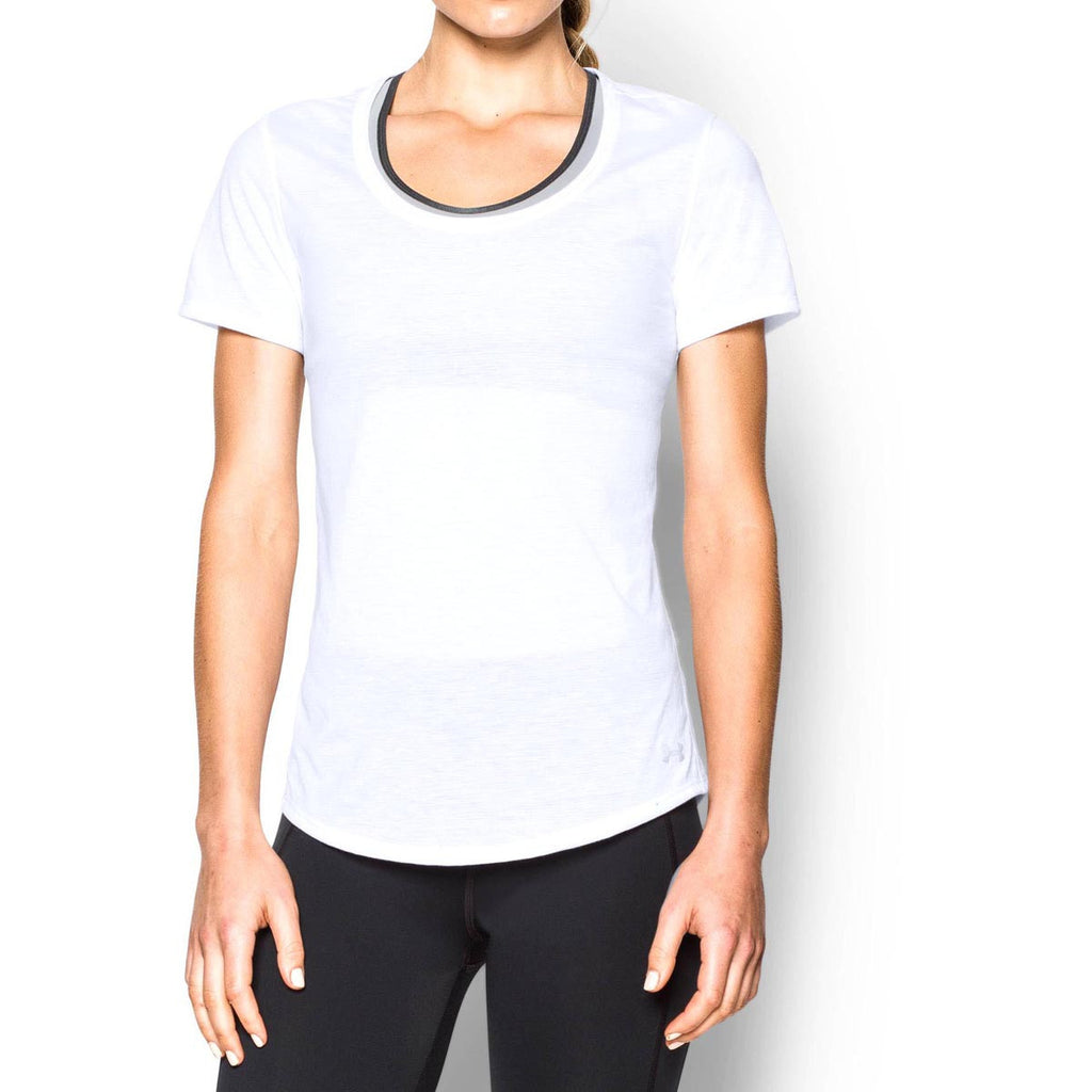 Under Armour Women's White UA Streaker Short Sleeve T-Shirt
