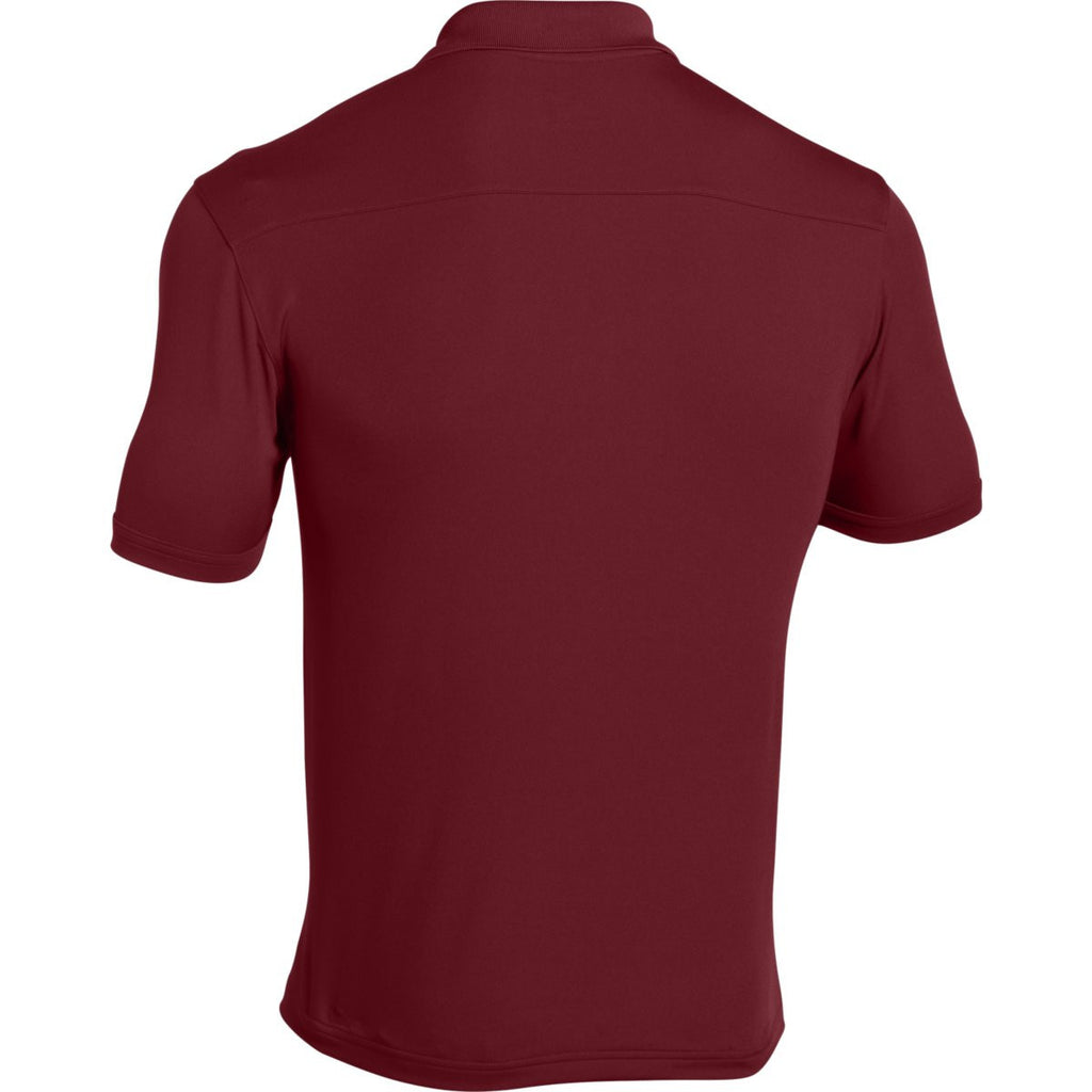 Under Armour Men's Cardinal Team Armour Polo