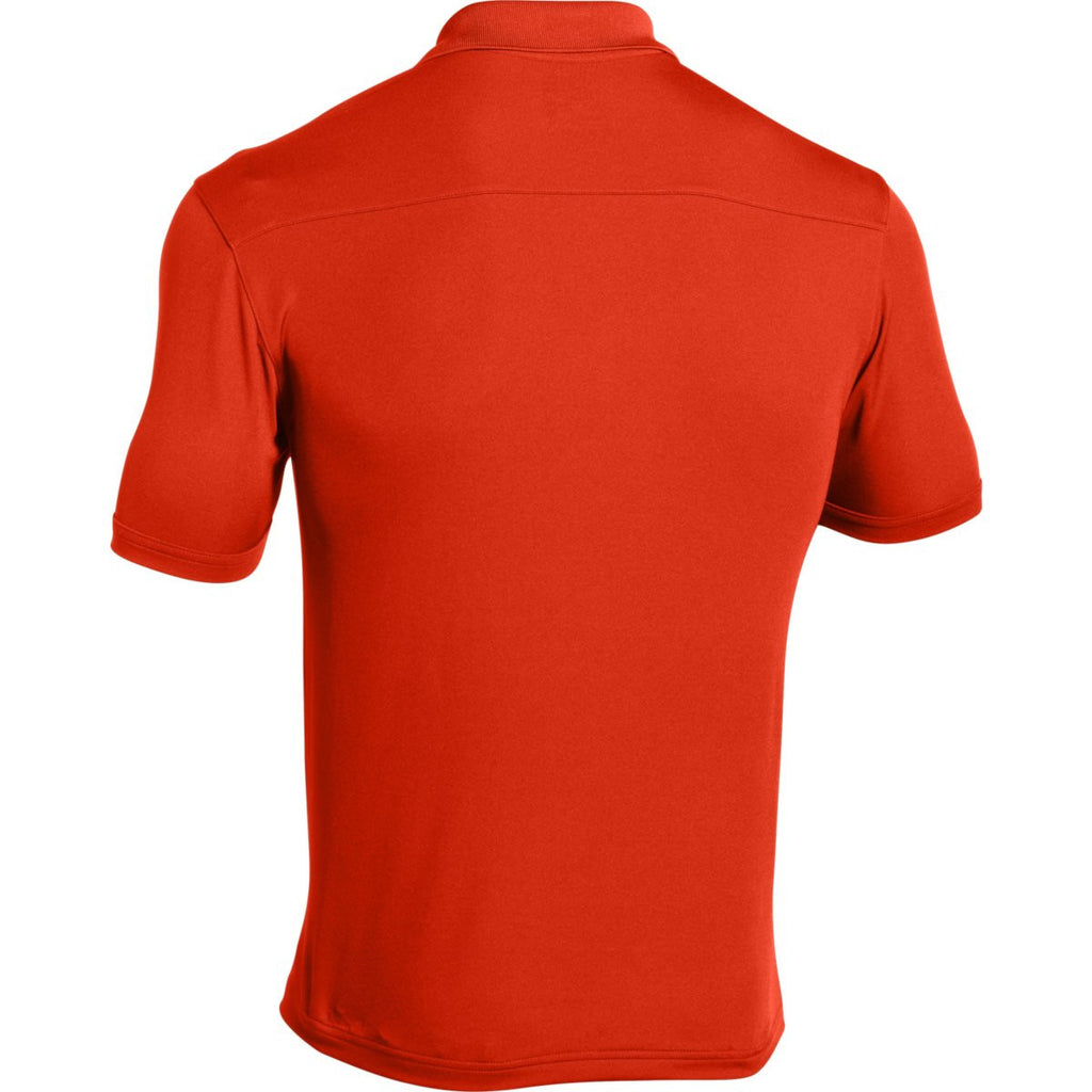 Under Armour Men's Dark Orange Team Armour Polo