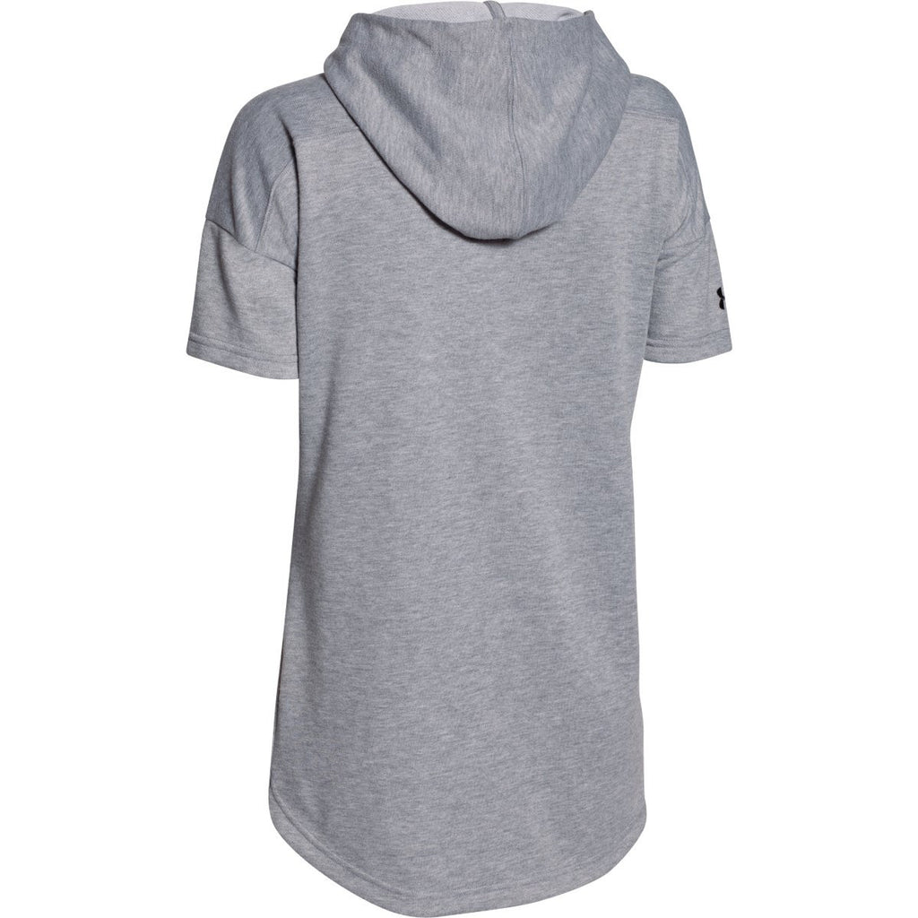 Under Armour Women's True Grey Heather Championship Knit Short Sleeve Hoody