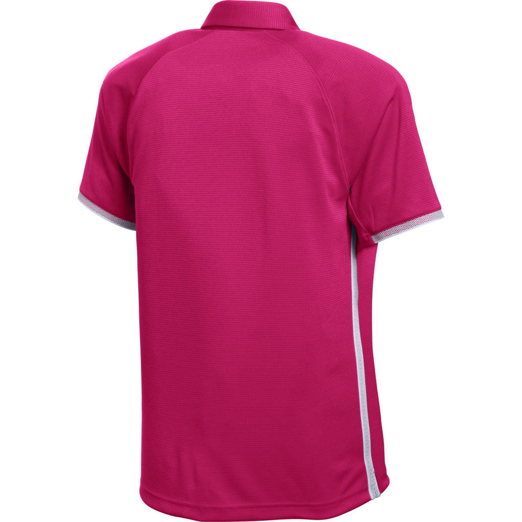 Under Armour Men's Pink Rival Polo