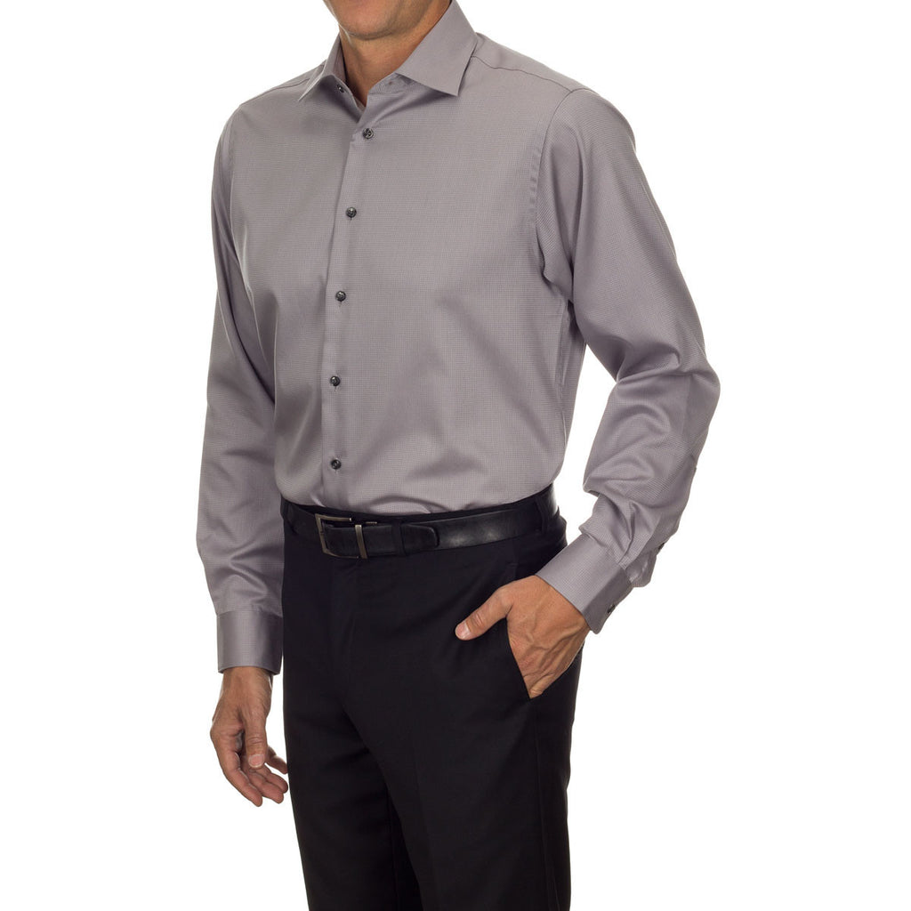 Calvin Klein Men's Ice Grey Non Iron Dobby