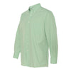Van Heusen Men's Green Chicory Gingham Long Sleeve Dress Shirt