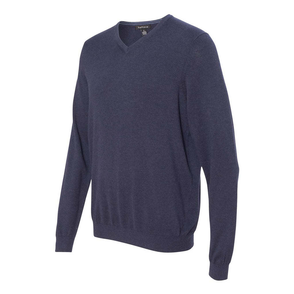 Van Heusen Men's Navy Long Sleeve V-Neck Sweater