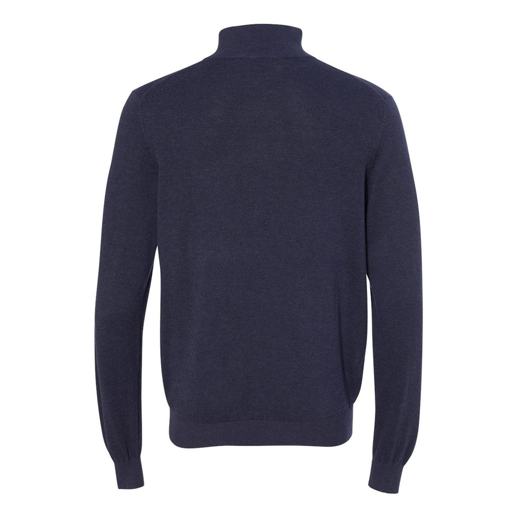 Van Heusen Men's Navy Long Sleeve Quarter Zip Knit Sweater