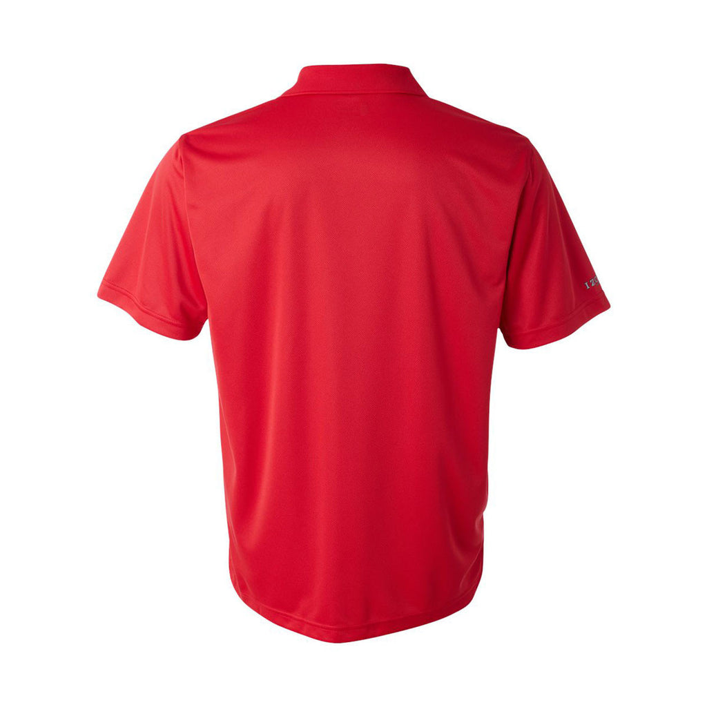 IZOD Men's Polish Red Performance Polyester Solid Dobby Polo