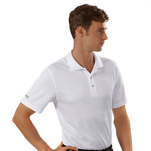 IZOD Men's White Performance Polyester Solid Dobby Polo