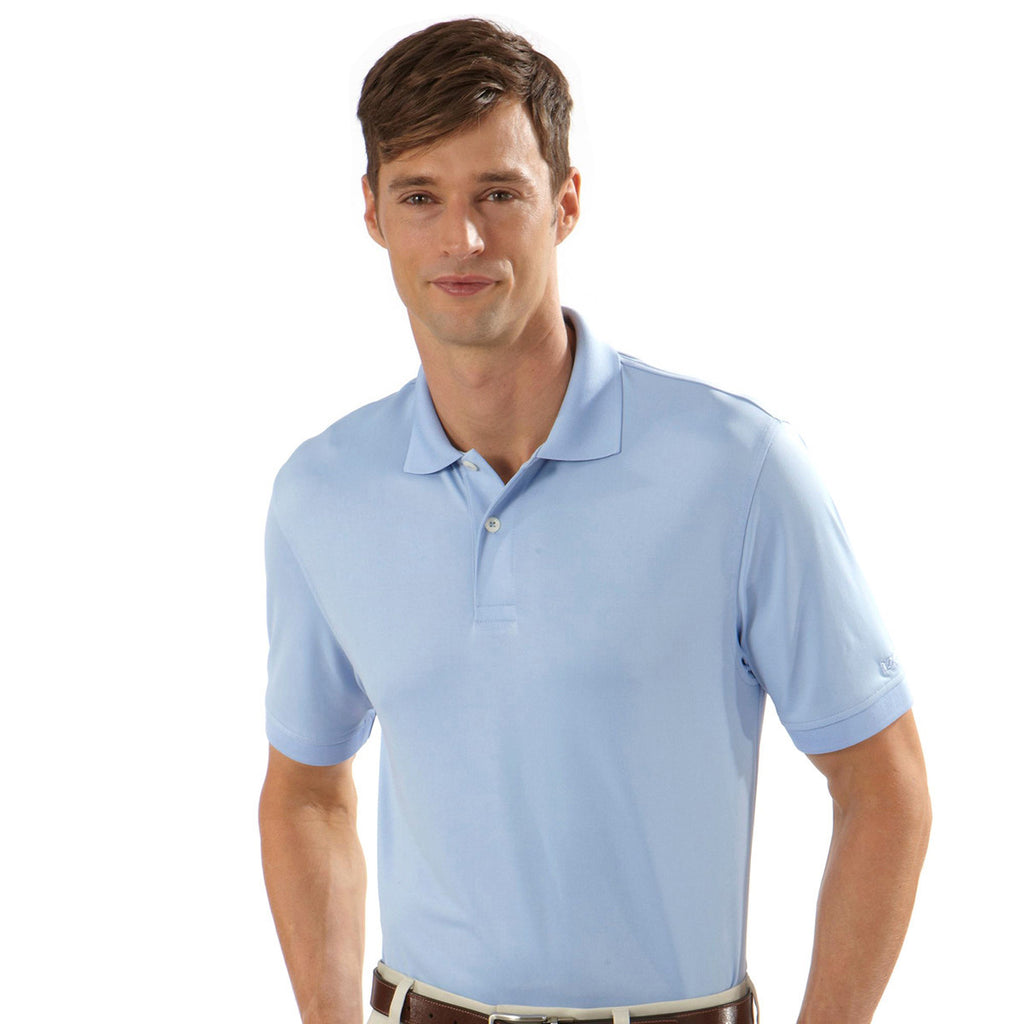 IZOD Men's Blue Pearl Performance Polyester Solid Jersey