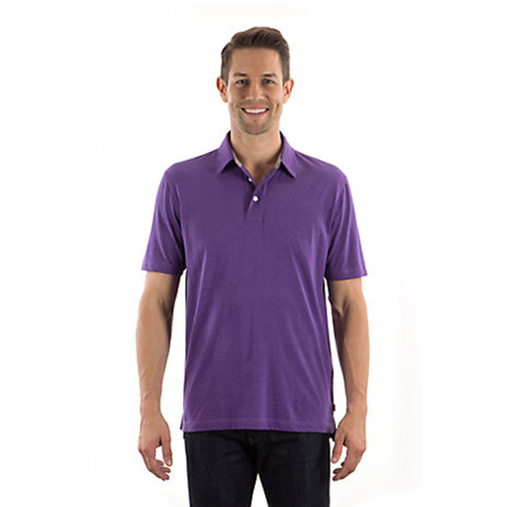 IZOD Men's Purple Till Jersey Polo