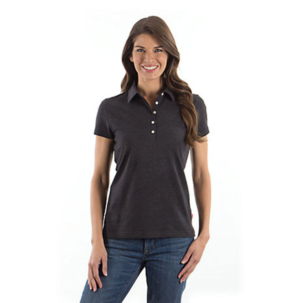 IZOD Ladies' Black Jersey Polo