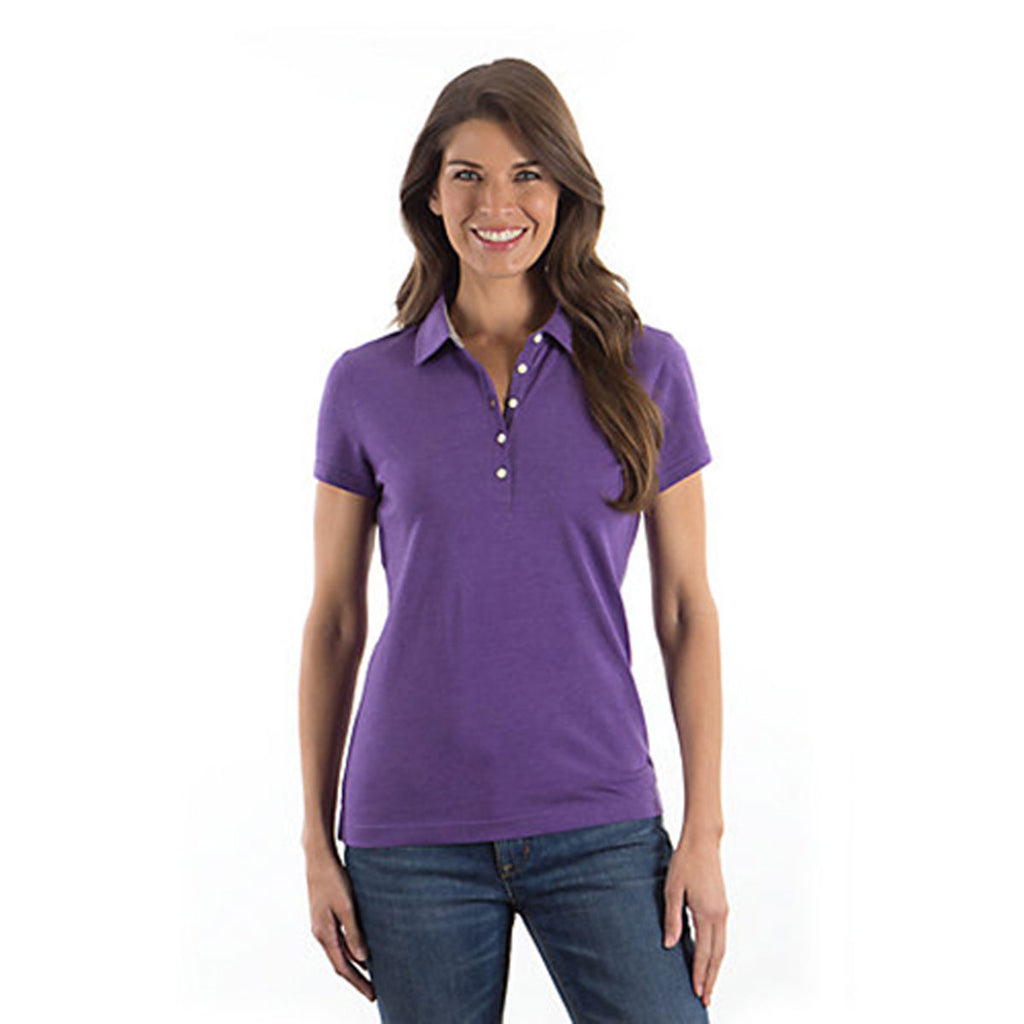 IZOD Ladies' Purple Till Jersey Polo
