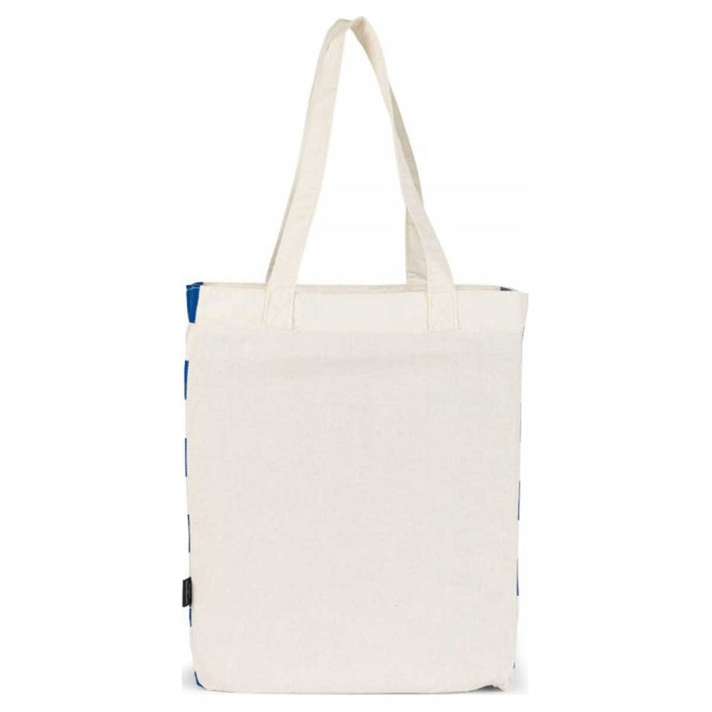 Gemline Natural/Navy Origins Cotton Market Tote
